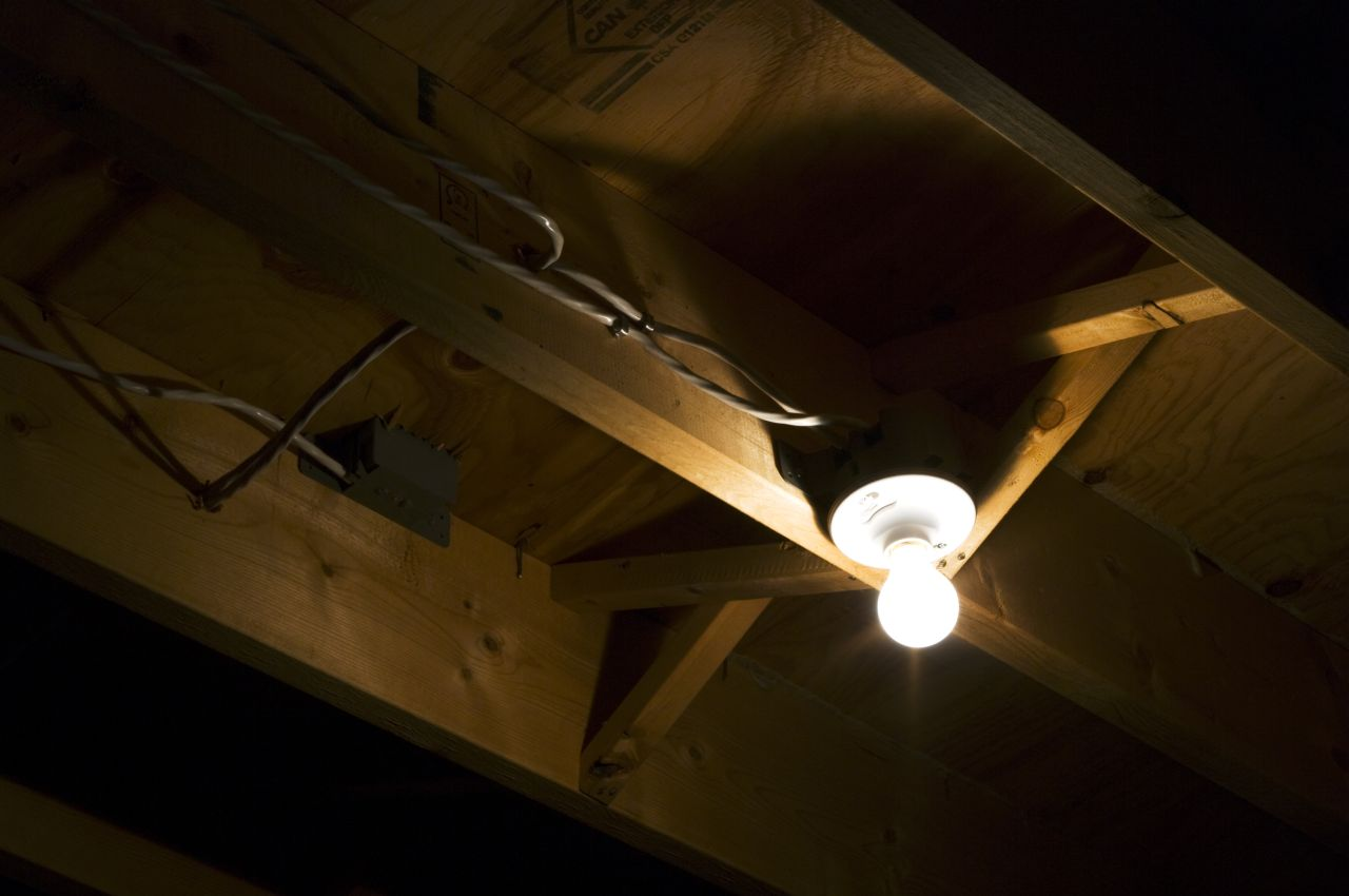 Light Right In Front Of Me - Basement light fixture